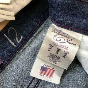 NYDJ Jeans - NYDJ Cuffed Cropped Jeans Crystal Blink Dark Wash